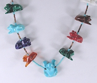 frog fetish necklace 28 inches