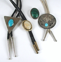 group of four bolo ties