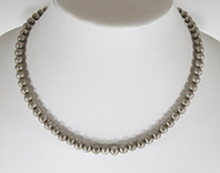 Sterling Silver Bead Choker necklace 18 inches