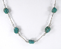 green nugget necklace 32 inches long