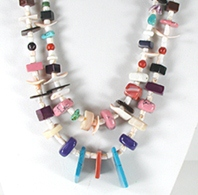Chiclet necklace 28 inches long