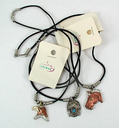 3 adjustable choker necklaces