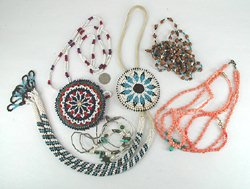 lot of fired necklaces from the Bargain Barn