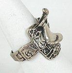 vintage sterling silver Western Saddle ring size 10
