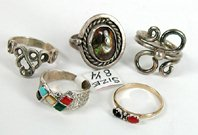 Five Rings size 8 to 8 7/8
