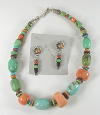 Don Lucas Handmade Necklace and Earrings Set