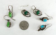 Bargain Barn lot of 3 Pair Wire Earrings