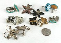 Bargain Barn lot of 7 pair clip and screw back earrings