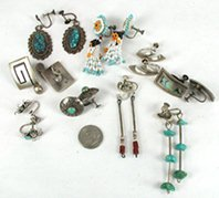 Bargain Barn lot of 9 pair screw-back earrings