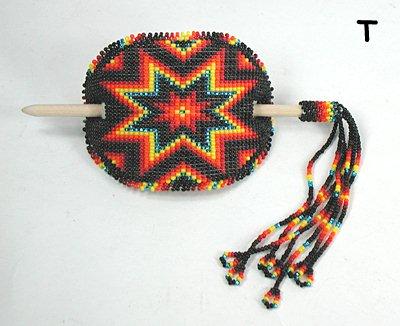 Authentic Native American Stick Barrette Hand Beaded Lakota