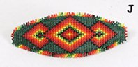 Authentic Hand beaded barrette Pine Ridge Lakota Sioux