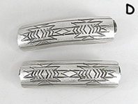 pair of Sterling Silver Dust Barrettes