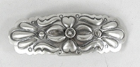 sterling silver repousse barrette