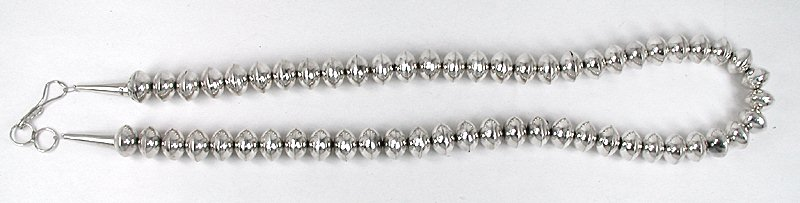 9d144497b12db Navajo Pearls Sterling Silver Bead Necklace
