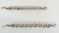 Sterling silver bead necklace externders