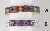 Authentic Native American Hand Beaded bracelet by Navajo Alyce Johnson