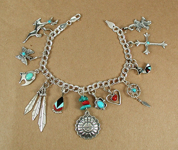 Charms And Bracelets: Charm Bracelet Navajo And Zuni Charms Horsekeeping
