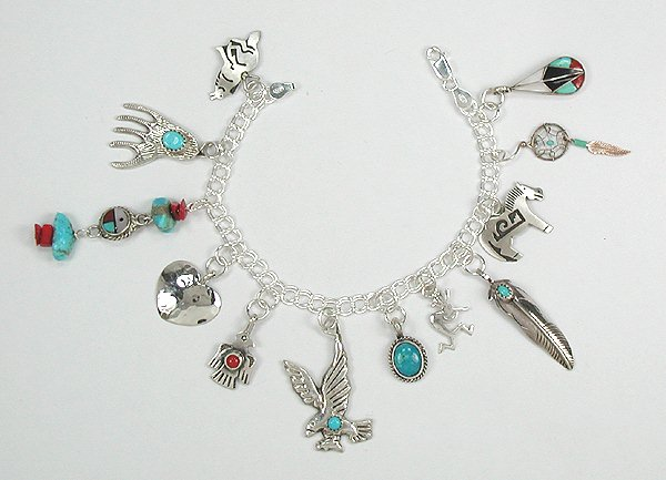Hand Made Sterling Silver Charm Bracelet