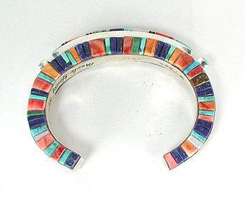 Native American inlay Bracelet Navajo Merle House, Jr. Sterling Silver