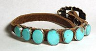 Sterling Silver Turquoise concho belt style bracelet