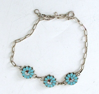 New Old Stock sunface bracelet or baby necklace 8 3/4 inch