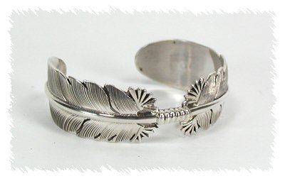 Hand Made Native American Indian Jewelry Navajo Sterling Silver Bracelet