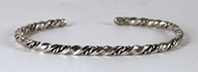Authentic Sterling Silver Navajo Classic Horse Whisperer Twist Bracelets by Benny and Elaine Tahe