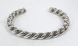 Navajo Sterling Silver Twist Bracelet