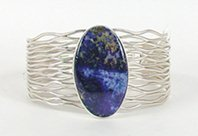 Authentic Native American Sterling Silver Lapis Lazuli bracelet by Navajo Murphy Platero