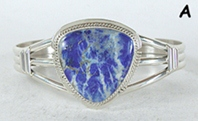 Authentic Native American sterling silver Lapis Lazuli  Bracelet by Navajo Larson Lee