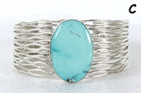 Authentic Native American sterling silver Turquoise  Bracelet by Navajo Murphy Platero