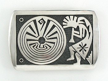 Hopi Sterling Silver kokopilli belt buckle