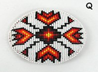 Authentic Native American hand beaded belt buckle by Lakota Alan Monroe