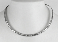 Sterling Silver Stamped Collar Necklace
