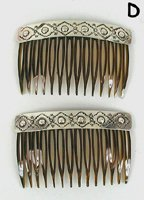 Sterling Silver Navajo Hair Combs