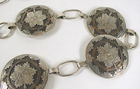 Vintage Classic sterling silver and turquoise concho belt
