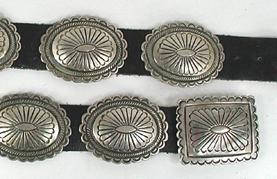 Native American Navajo Hopi Zuni Concho Belts And Hat Bands