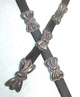 Vintage Navajo butterfly  concho belt