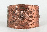 Authentic Bell Trading Company solid Copper Repousse Bracelet