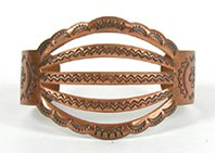 Vintage Copper Spreadwire Symbols Bracelet Bell Trading Company