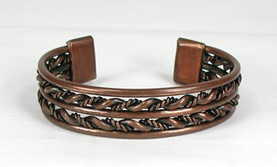 mens listing copper chain dark bracelet antique chainmail il