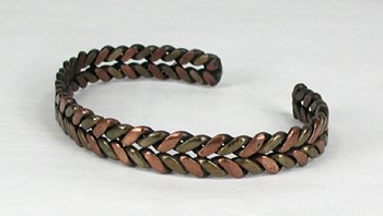 Vintage Copper Braided Bracelet