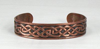 Vintage Copper Celtic Weave Bracelet