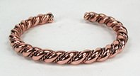 Authentic Navajo Copper Horse Whisperer Twist Bracelet