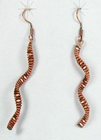 NOS copper Spiral earrings