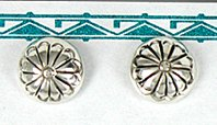 Authentic Native American sterling silver post earrings