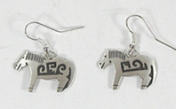 Authentic Native American sterling silver earrings wire-style by Navajo Robert Gene