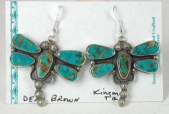 Navajo Turquoise Dragonfly Earrings