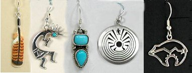 Native American Indian Sterling Silver Earrings