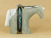 Authentic Native American Navajo Horse Fetish Carving by Harold Davidson